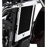 Kawasaki Genuine Accessories Radiator Cover - Chrome - Kawasaki OEM Parts Cruiser Engine Parts and Accessories