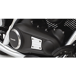 Kawasaki Genuine Accessories Engine Cover Trim - Chrome - Kawasaki Genuine Accessories Speedometer Visor - Chrome