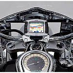 Kawasaki Genuine Accessories Handlebar Clamp / Mount for Garmin Zumo GPS - Chrome