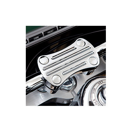 Kawasaki Genuine Accessories Billet Handlebar Clamp - Chrome - Main