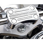 Kawasaki Genuine Accessories Billet Handlebar Clamp - Chrome -  Cruiser Controls