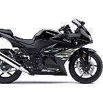 Kawasaki Genuine Accessories Tribal/Flame Graphic Kit - Black/Silver/Green - Motorcycle Decals & Graphic Kits