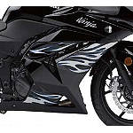 Kawasaki Genuine Accessories Tribal/Flame Graphic Kit - Black/Silver/Blue - Kawasaki OEM Parts Motorcycle Graphic Kits and Decals