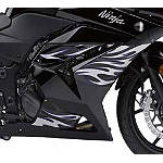 Kawasaki Genuine Accessories Tribal/Flame Graphic Kit - Black/Silver/Purple - Dirt Bike Decals & Graphic Kits