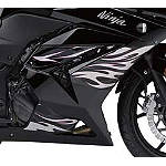 Kawasaki Genuine Accessories Tribal/Flame Graphic Kit - Black/Silver/Pink - Motorcycle Fairings & Body Parts