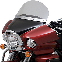 "Kawasaki Genuine Accessories 12"" Windshield - Clear - Kawasaki Genuine Accessories Smoked Wind Deflector"