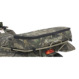Kawasaki Genuine Accessories Rear Rack Bag - Mossy Oak - Kawasaki Genuine Accessories Handlebar Bag - Black