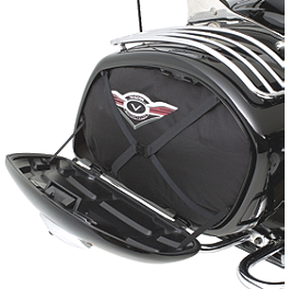 Kawasaki Genuine Accessories Saddlebag Liner Set - 2009 Kawasaki Vulcan 1700 Voyager ABS - VN1700B Kawasaki Genuine Accessories Billet Handlebar Clamp - Chrome