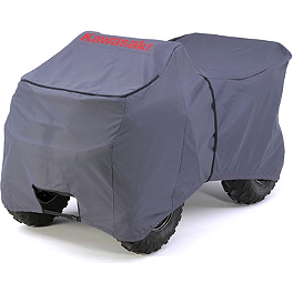 Kawasaki Genuine Accessories Dark Charcoal ATV Cover - Quadboss Side X Side Cover Black