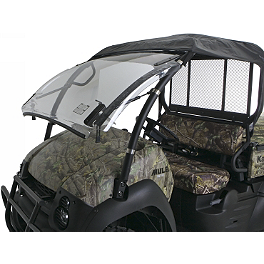 Kawasaki Genuine Accessories Flip-Up Windshield - Kawasaki Genuine Accessories Steel Hard Top - Black