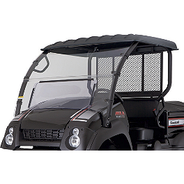 Kawasaki Genuine Accessories Fixed Windshield - Kawasaki Genuine Accessories Steel Hard Top - Black