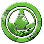 Keiti Gas Cap Pad - Kawasaki Green 2006 - Kawasaki Dirt Bike Body Parts