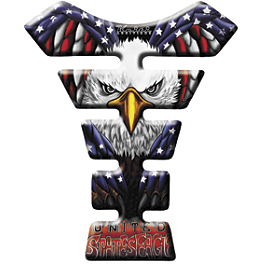 Keiti Tank Protector - US Flag Eagle - Keiti Tank Protector - Red/Black Flame