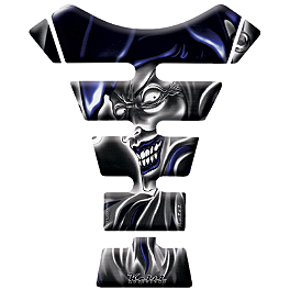 Keiti Tank Protector - Black/Blue Jester - Keiti Tank Protector - Female With Guns