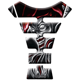 Keiti Tank Protector - Black/Red Jester - Keiti Tank Protector - Female With Guns