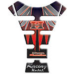 Keiti Tank Protector - Honda Black/Silver/Red Wing - Keiti Dirt Bike Products