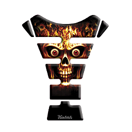 Keiti Tank Protector - Skull / Flames - Keiti Tank Protector - Clear Female With Guns