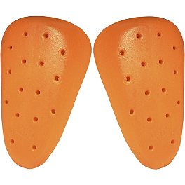 Klim D3O Hip Pads - Orange - Klim CE Knee / Shin Pads - Black