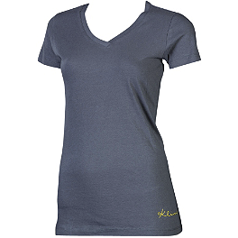 2013 Women's Kute V-Neck T-Shirt - Dunlop D952 Rear Tire - 100/90-19