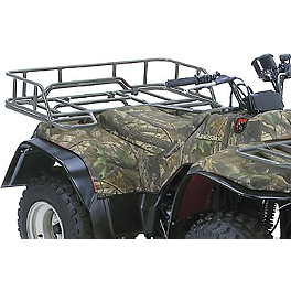 Kawasaki Genuine Accessories Rear Rack Extension - Silver - 2011 Kawasaki BAYOU 250 2X4 Kawasaki Genuine Accessories Seat Cover - Mossy Oak