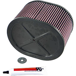 K&N Air Filter - 2008 Kawasaki BRUTE FORCE 650 4X4i (IRS) Moose Dynojet Jet Kit - Stage 1