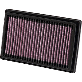 K&N Air Filter - CAN-AM - 2012 Can-Am Spyder RS-S SE5 Two Brothers M-2 Black Series Slip-On Exhaust - Aluminum Dual