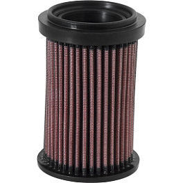 K&N Air Filter - Ducati - 2009 Ducati Monster 1100S Sargent World Sport Performance Seat With Red Welt