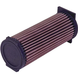 K&N Air Filter - 2007 Yamaha GRIZZLY 660 4X4 HMF Utility Slip-On Exhaust - Polished