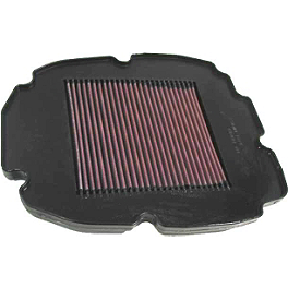 K&N Air Filter - Honda - 2002 Honda VFR800FI - Interceptor NGK Laser Iridium Spark Plugs