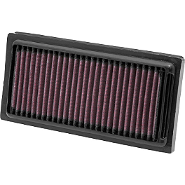 K&N Air Filter - Harley Davidson - 2010 Harley Davidson Sportster XR1200 - XR1200 Vance & Hines Widow XR 2-1-2 Exhaust - Black