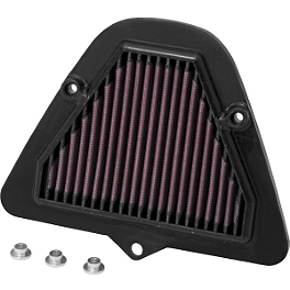 K&N Air Filter - Kawasaki - 2011 Kawasaki Vulcan 1700 Vaquero - VN1700J Show Chrome Vantage Rear Highway Boards