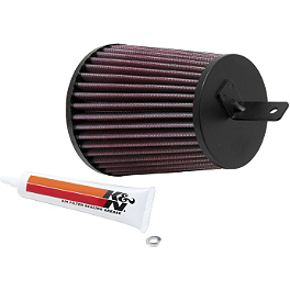 K&N Air Filter - 2008 Suzuki LTZ400 Outerwears Pre-Filter For K&N, Black
