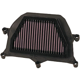 K&N Air Filter - Yamaha - 2007 Yamaha YZF - R6 BikeMaster Air Filter