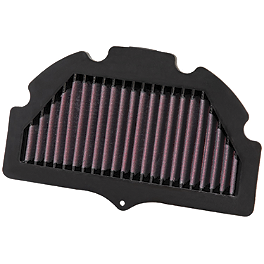K&N Race Air Filter - Suzuki - 2007 Suzuki GSX-R 750 Jardine GP1-R Full Exhaust System