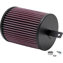 K&N Air Filter - 2004 Honda TRX450R (KICK START) Outerwears Pre-Filter For K&N, Black