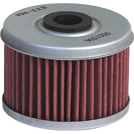 K&N Cartridge Oil Filter - 2006 Honda RANCHER 350 2X4 ES Quad Works Standard Seat Cover - Black
