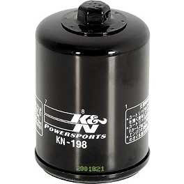 K&N Spin-on Oil Filter - 2012 Polaris RANGER 800 XP 4X4 EPS Big Gun Eco System Slip-On Exhaust