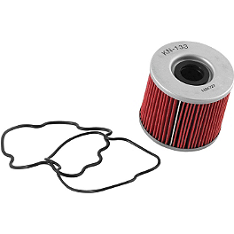 K&N Cartridge Oil Filter - 2009 Suzuki GS 500F Puig Racing Windscreen - Dark Smoke