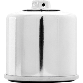 K&N Spin-on Oil Filter - Chrome - BikeMaster Air Filter