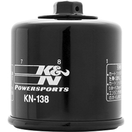 K&N Spin-on Oil Filter - 2000 Suzuki TL1000S Yana Shiki Hex Oil Cap - Polished