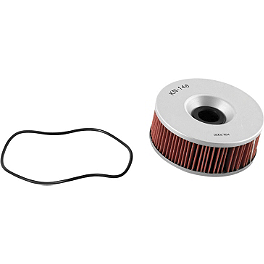 K&N Cartridge Oil Filter - 1991 Yamaha VMAX 1200 - VMX12 Braking R-FIX Brake Rotor - Rear