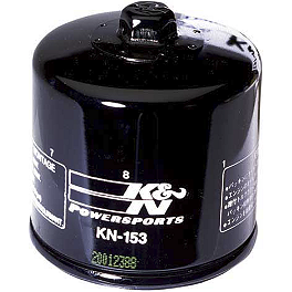 K&N Spin-on Oil Filter - 2009 Ducati 1098R Akrapovic Slip-On Exhaust - Carbon Fiber