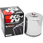 K&N Spin-on Oil Filter - Chrome - Kawasaki ZX600 - ZZ-R 600 Motorcycle Engine Parts and Accessories