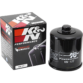 K&N Spin-on Oil Filter - 2006 Buell Lightning - XB9SX All Balls Front Wheel Bearing Kit