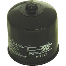 K&N Spin-on Oil Filter - 1988 Kawasaki Vulcan 750 - VN750A NGK Iridium IX Spark Plugs