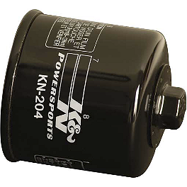 K&N Spin-on Oil Filter - 2010 Yamaha GRIZZLY 550 4X4 POWER STEERING Quad Works Standard Seat Cover - Black