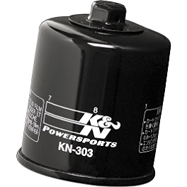K&N Spin-on Oil Filter - 2008 Yamaha Stratoliner 1900 S - XV19CTS Arlen Ness Battistini Round Rear Footpegs - Black