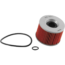 K&N Cartridge Oil Filter - 1980 Kawasaki KZ750 - Four Saddlemen Saddle Skins Seat Cover - Black