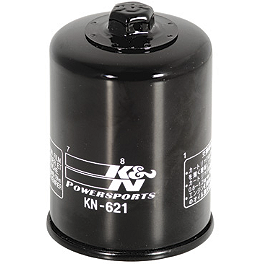 K&N Spin-on Oil Filter - K&N Spin-on Oil Filter - Chrome