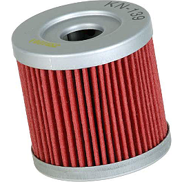 K&N Cartridge Oil Filter - 2006 Kawasaki KFX400 Kenda Speed Racer Rear Tire - 22x10-10